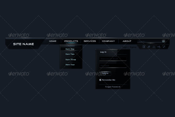 PSD Navigation Bars Bundle