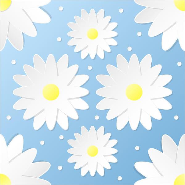 Paper Craft 3D Flowers Seamless Pattern Free