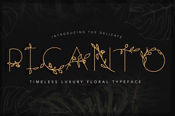 Picanto Floral Font