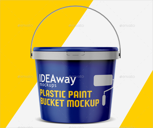 Plastic Paint Bucket Mock-Up