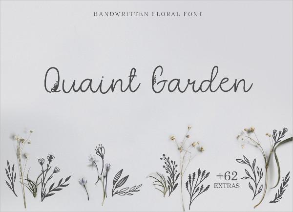Quaint Garden Floral Font