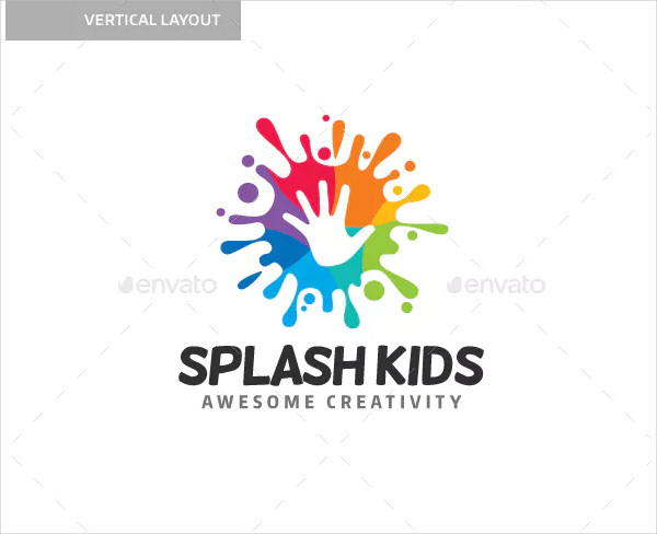 Splash Kids Logo Template