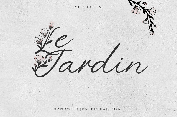 Stylish Floral Font