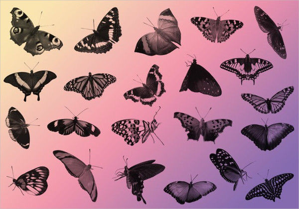 23 Free Butterfly Photoshop Brush Pack