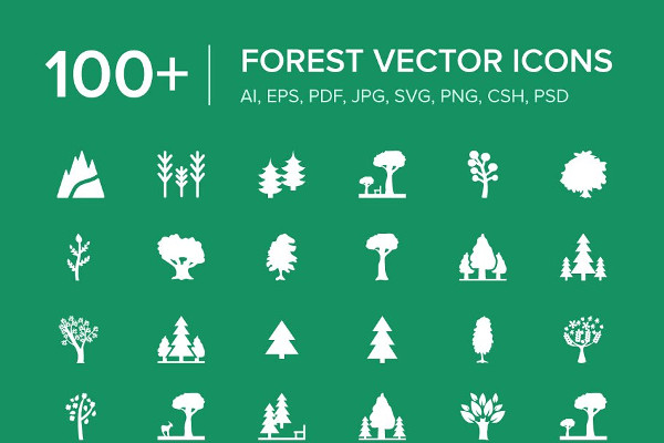 Amazing Forest Vector Icons