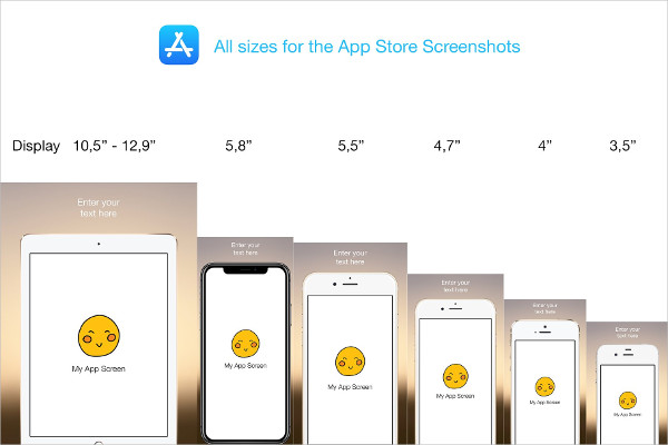 App Store Screenshots PSD Mock-Up