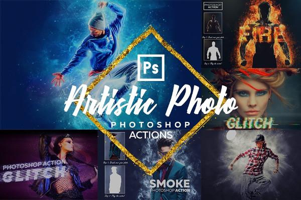 Artistic Photoshop Actions Bundle