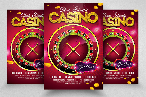 Awesome Casino Flyer Design