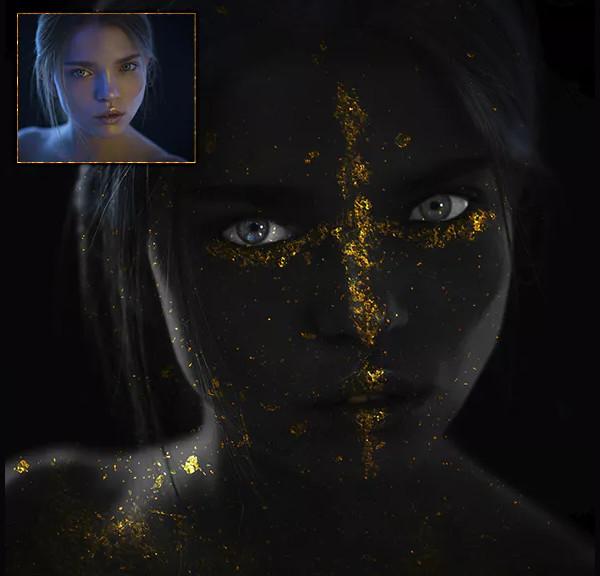 Black & Gold Photoshop Action