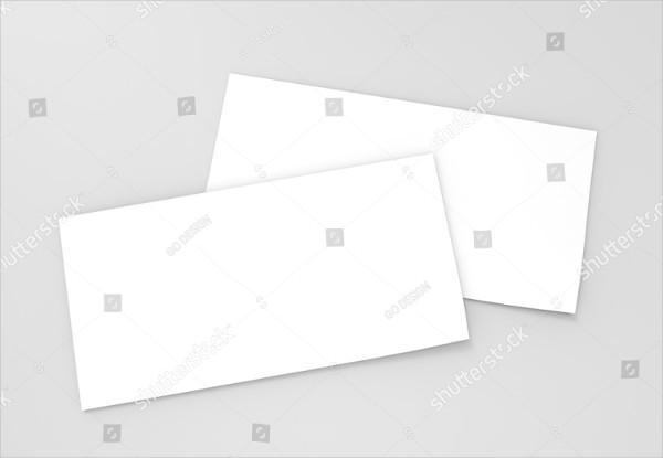 Blank Empty Voucher Card Mock-Up