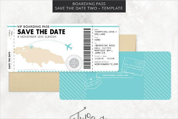 Boarding Pass Wedding Invitation Design