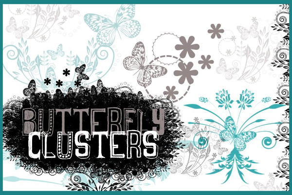 Butterfly Clusters Photoshop Brush Set