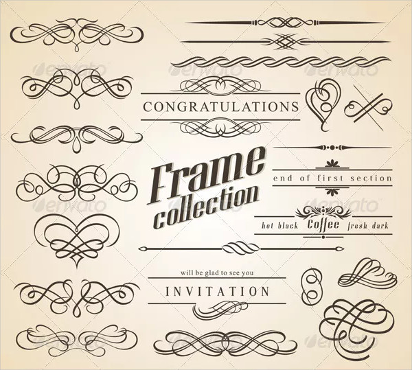 Calligraphy Design Elements & Frames