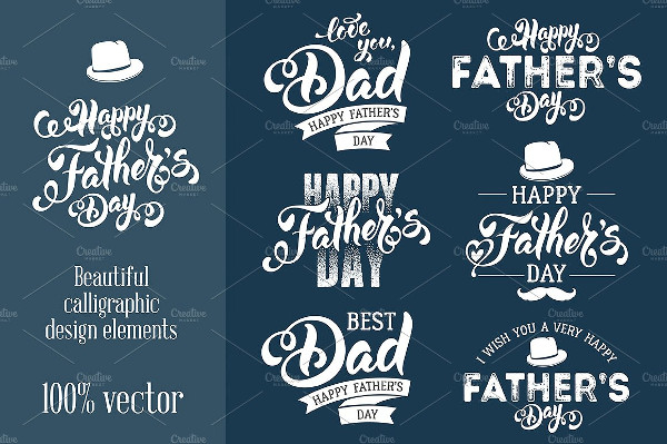Calligraphic Design for Father's Day