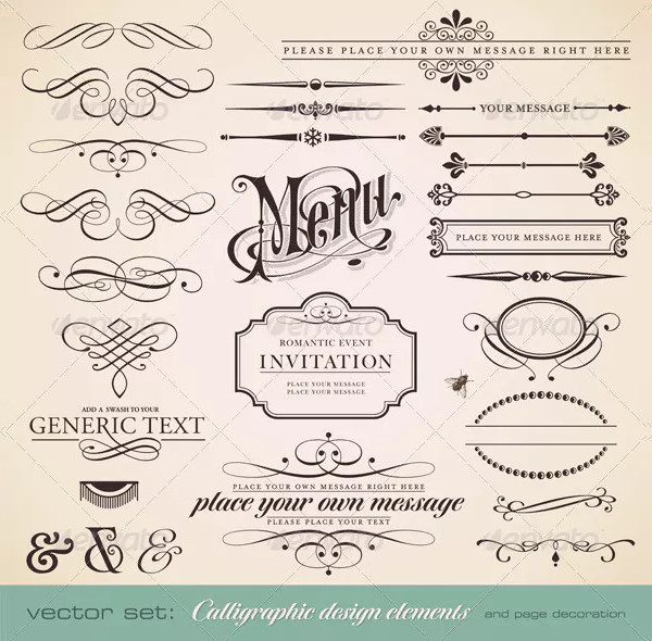 Calligraphic Designs and Page Decoration