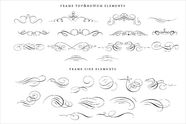 Calligraphic Flourishes Bundle