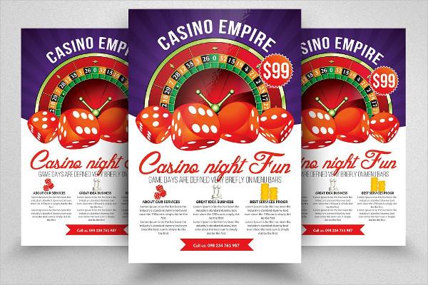 Casino Night Editable Flyer Template