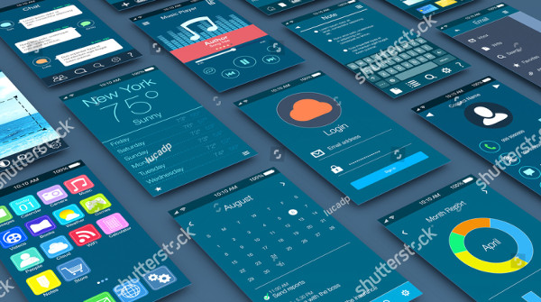 Close-up View of Mobile Apps Mockup