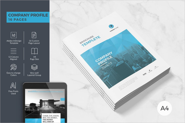 Company Profile InDesign Brochure Template