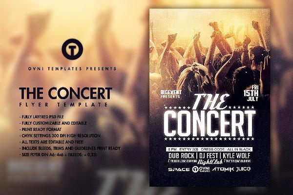 Concert Band Flyer Design