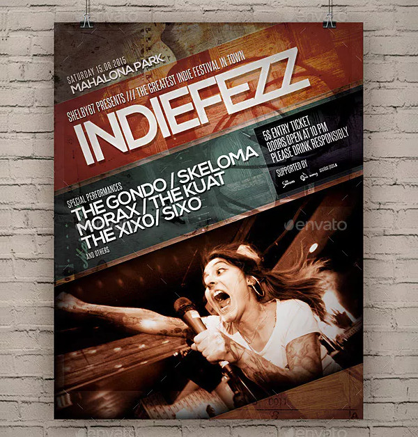 Cool Indie Band Flyer Templates