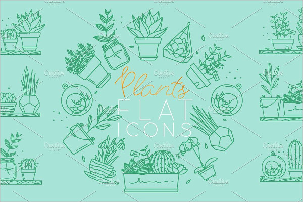 Cool Plants Flat Icons