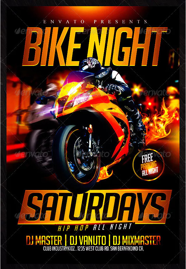Custom Motorcycle Event Flyer