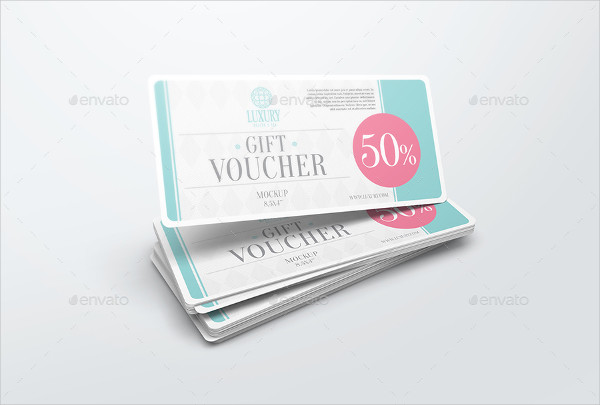 Custom Voucher Mockups PSD