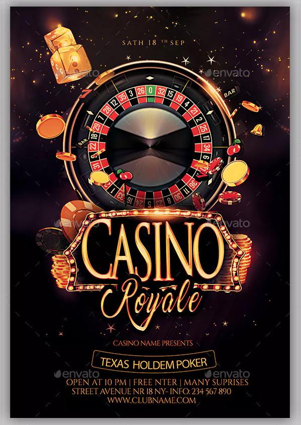 Editable Casino Club Flyer Design