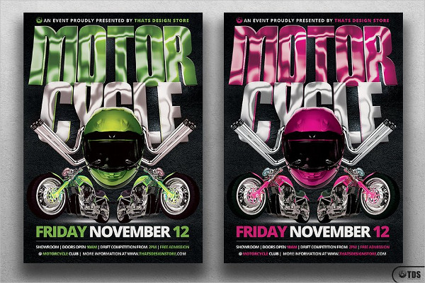 Editable Motorcycle Flyer Template