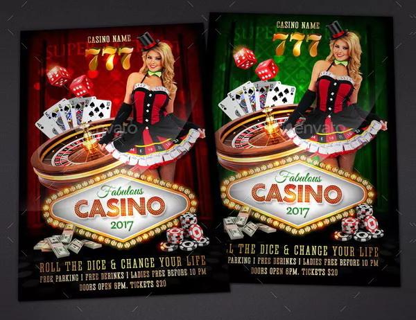 Fabulous Casino Night Flyer