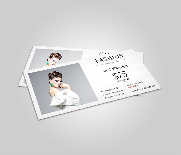 Fashion Gift Voucher Mockup Template