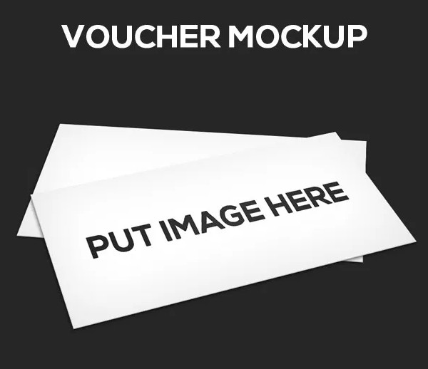Free Gift Voucher Mock-Up PSD