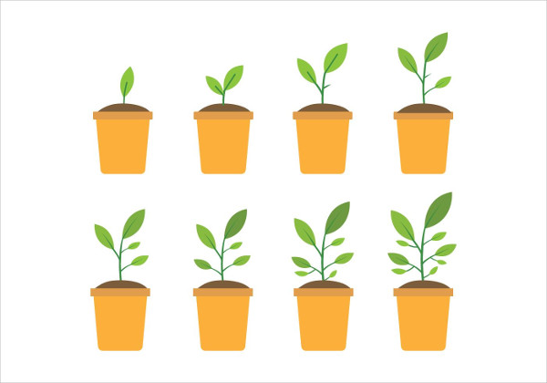 Free Grow Up Plant Icon Pack