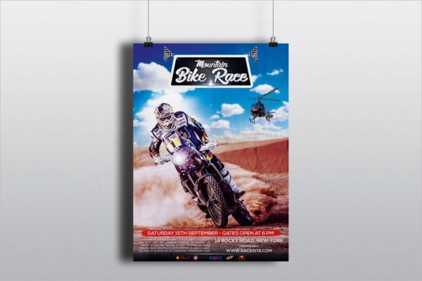 Free Motorcycle Racing Flyer PSD Template
