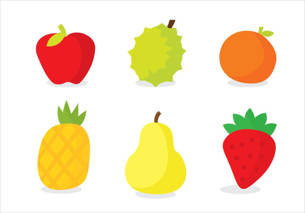 Fresh Fruits Colors Icons Free Download