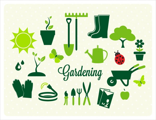 Gardening Icons Collection Free Download