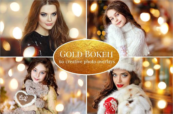 Gold Bokeh Photo Overlays