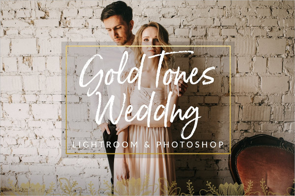Gold Film Toned Wedding Presets