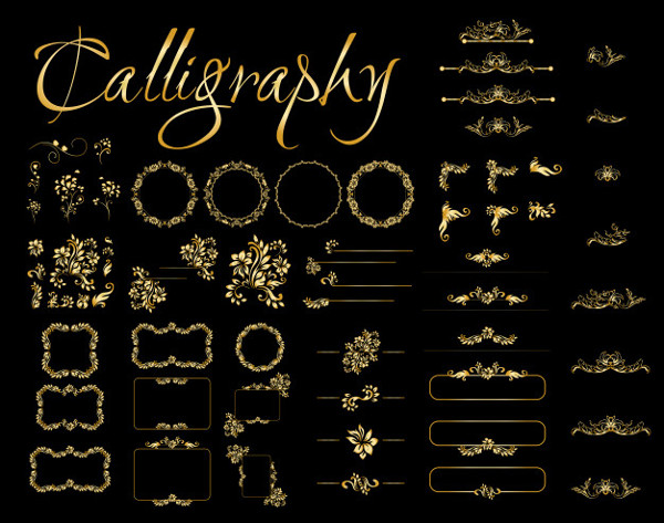 Golden Calligraphic Designs Free Download