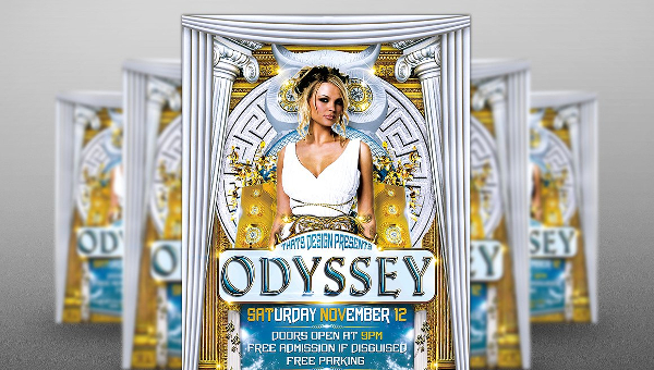 15+ Greek Party Flyers