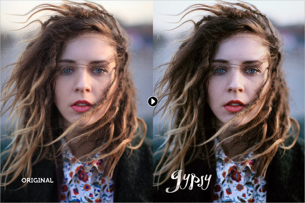 Gypsy Portrait Photoshop Action