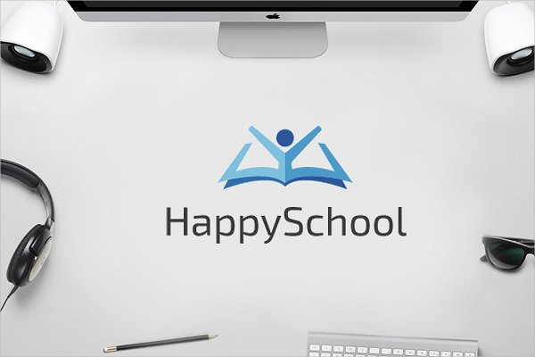 Happy School Logo Template