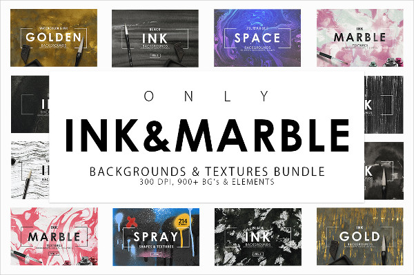 Ink & Marble Backgrounds Bundle