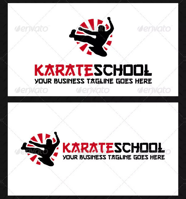 Karate School Logo Template