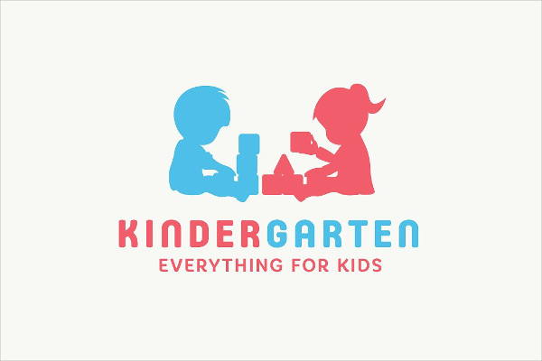 KinderGarten Logo Design & Fonts