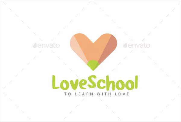 Love School Logo Template
