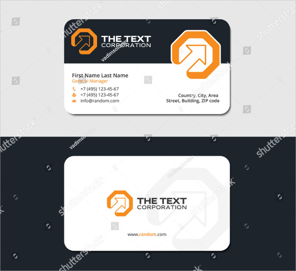 Marketing Business Cards Design Template