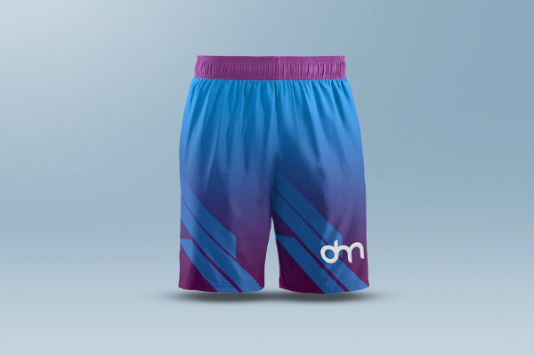 Men's Shorts Mock-Up Template Free