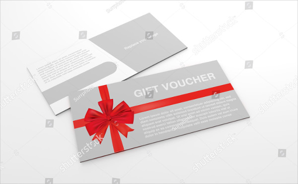 Mock-Up Template of Royalty Gift Voucher